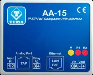 Interfaccia IP VoIP SIP PoE per citofoni tradizionali