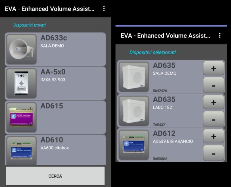 EVA APP per il controllo di tutti i prodotti Audio over IP SIP della linea SipComStage